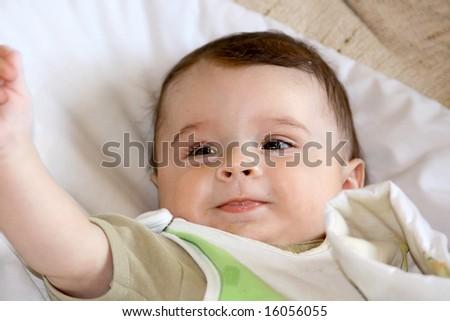 Infant smile - stock photo