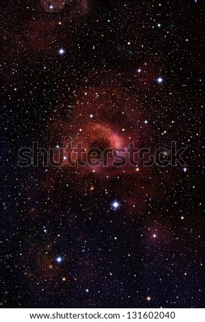 Infinite galaxies in space - stock photo
