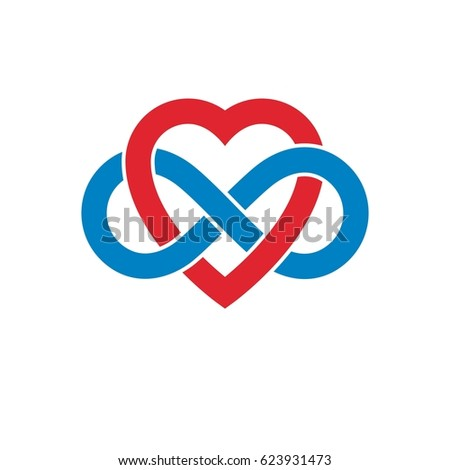 Infinite Love Concept Symbol Created Infinity Stock Illustration