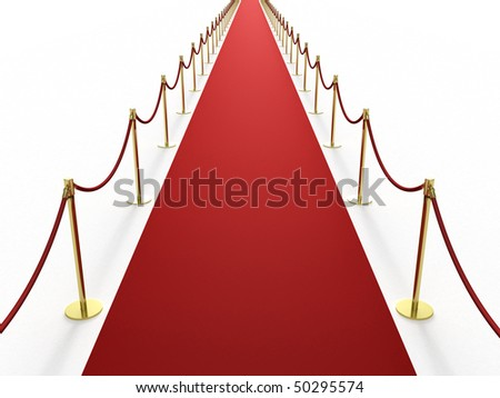 Infinitely long red carpet