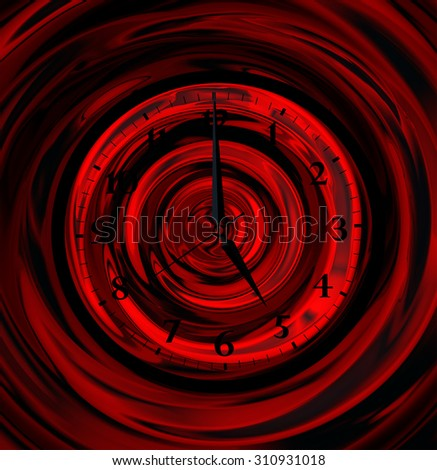 infinity abstract clock - stock photo