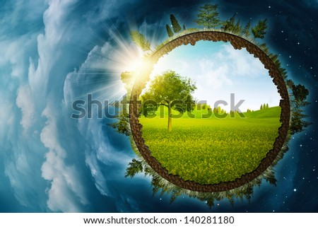 Infinity inside, abstract environmental backgrounds