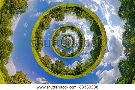 Infinity Planet. Ecology and environment conservation concept - stock photo
