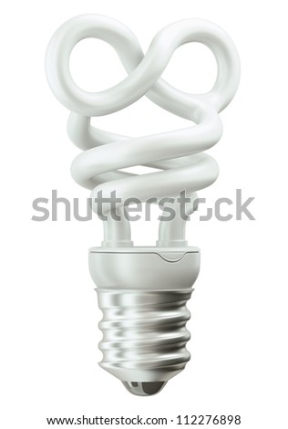 infinity symbol light bulb isolated over white background