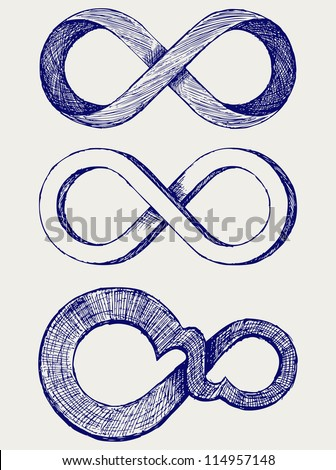 Infinity symbol. Raster version - stock photo