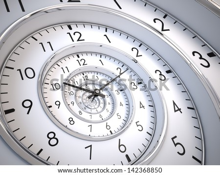 Infinity Time Spiral - stock photo