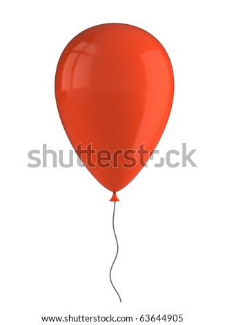 Inflatable balloon isolated on white - stock photo