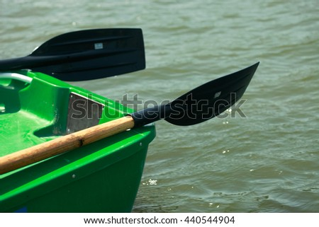 inflatable rubber dinghy - stock photo