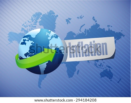 inflation international globe sign concept illustration design graphic