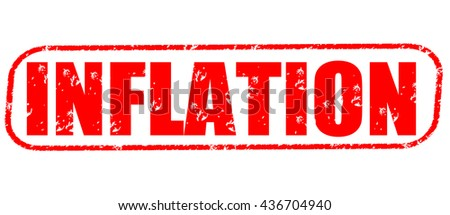 inflation stamp on white background. - stock photo