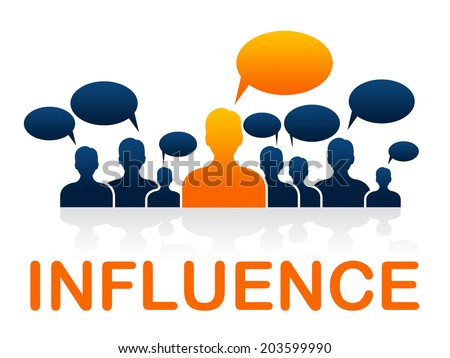Influence Leadership Meaning Management Led And Direction - stock photo
