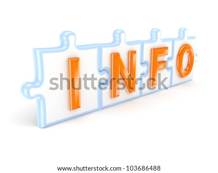 INFO concept.Isolated on white background.3d rendered. - stock photo