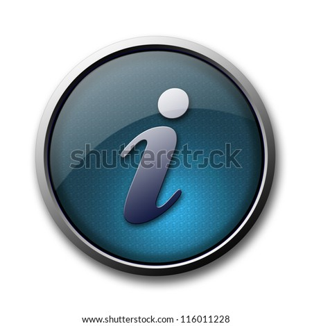 Info glossy icon or button isolated on white background - stock photo