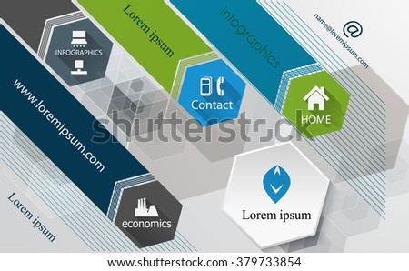Info graphic technology design template-poster template, brochure. Raster version. - stock photo