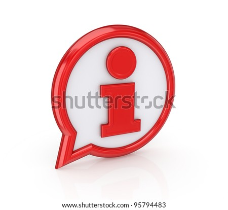 Info icon.Isolated on white background.3d rendered. - stock photo