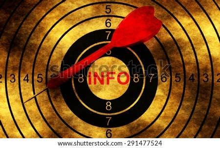 Info target on grunge background - stock photo