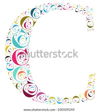 Info-text graphics and arrangement concept (word clouds) begin with alphabet C isolated white background - stock photo