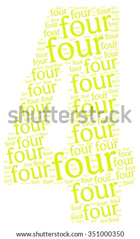 Info-text graphics and arrangement concept (word clouds) begin with Numbers isolated white background