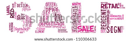 Info-text graphics Sale composed in Sale Text shape concept in white background