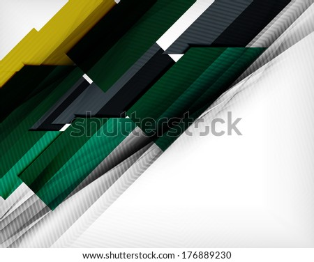 Infographic abstract background made of geometric shapes. Raster version