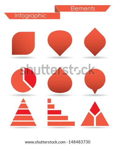 infographic elements.  set 2.(vector version also available in my gallery) - stock photo