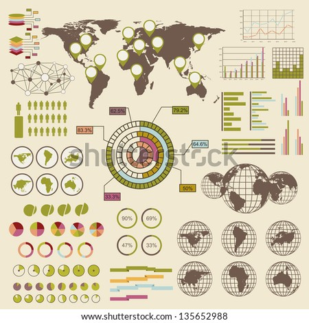 Infographic elements. Vector version also available in gallery. - stock photo