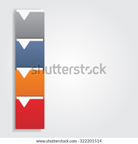 Infographic report template. Raster version - stock photo