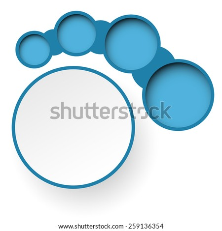 Infographics. Abstract blue paper banners. illustration. - stock photo
