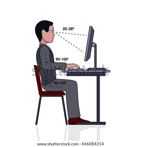 Correct Posture Stock Images Royalty Free Images