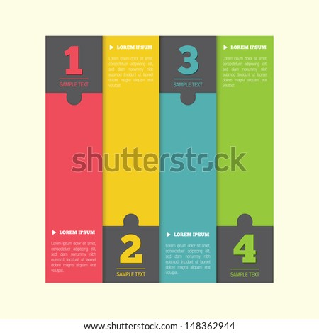 Infographics element, with numbers - stock photo
