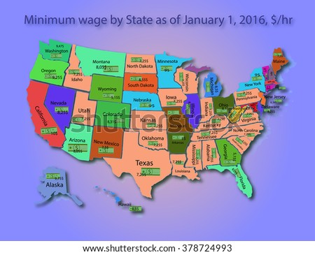 Infographics minimum wage in USA
