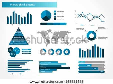 Infographics set. World Map and Information Graphics  - stock photo