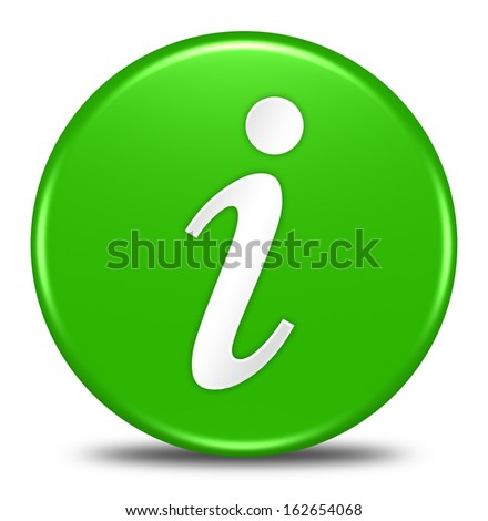 information button isolated - stock photo
