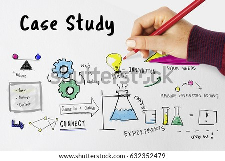 Information Case Study Research Verification Analysis Stock Photo