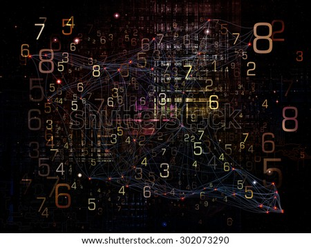 Information Cloud series. Abstract composition of connected abstract elements suitable as element in projects related to cloud networking, information, data storage and modern technology - stock photo