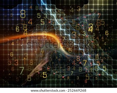 Information Cloud series. Backdrop of  connected abstract elements to complement your design on the subject of cloud networking, information, data storage and modern technology - stock photo
