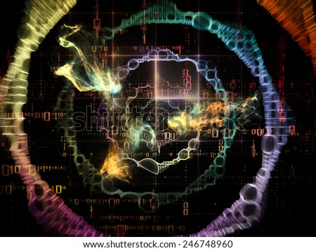 Information Cloud series. Design composed of connected abstract elements as a metaphor on the subject of cloud networking, information, data storage and modern technology - stock photo