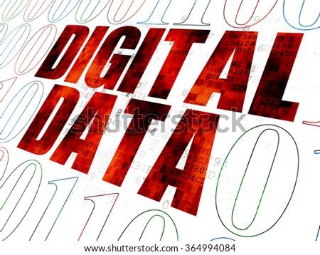 Information concept: Digital Data on Digital background - stock photo
