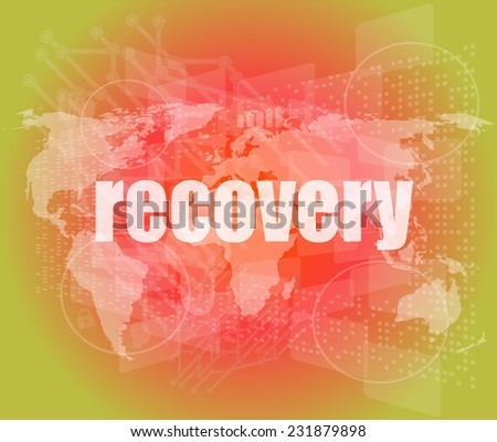 Information concept: word recovery on digital background - stock photo