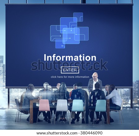 Information Data Circuit Chip Link Concept - stock photo