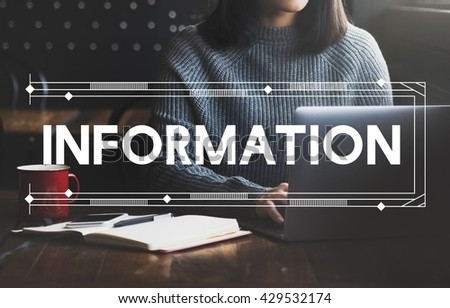 Information Data Research Report Results Concept - stock photo