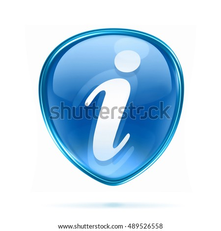 information icon blue, isolated on white background