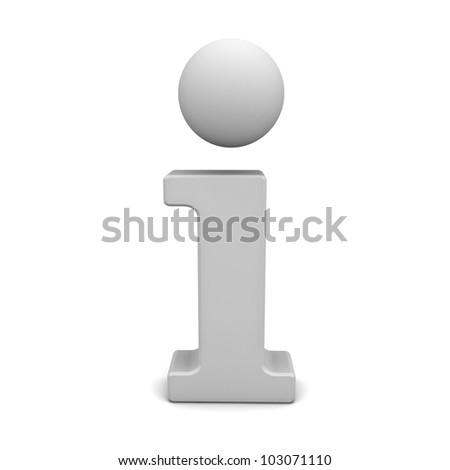 Information icon isolated on white background - stock photo