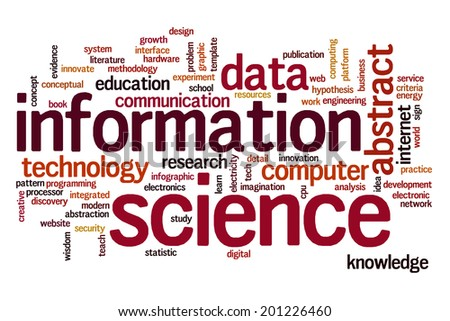 Information science concept word cloud background