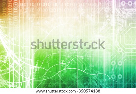 Information Technology or IT as a Art Background