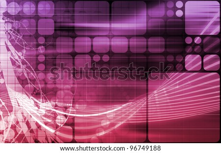 Information Technology or IT Infotech as a Art - stock photo