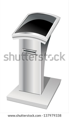 information terminal isolated on white background. - stock photo