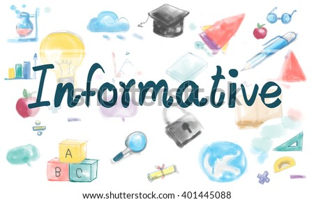 Informative Information Knowledge Study Ideas Concept - stock photo