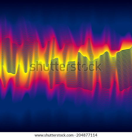 Infrared heat wave background with blended lines - stock photo