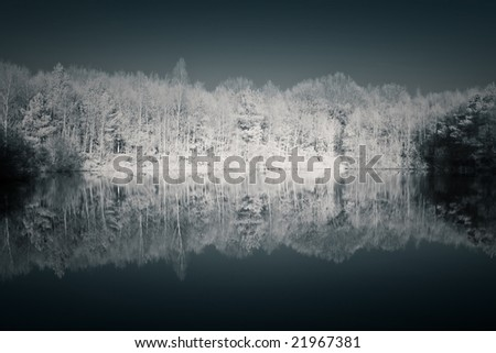 Infrared image, reflection